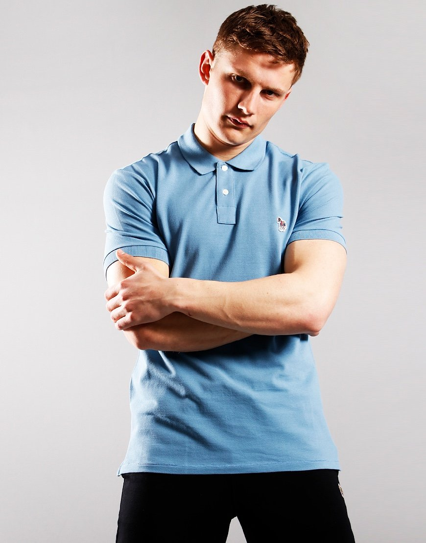 Paul Smith Regular Fit Polo Shirt Sky Blue