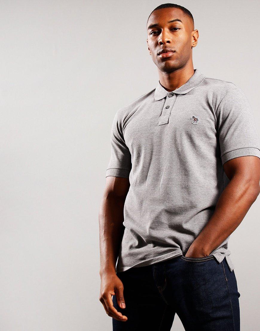 Paul Smith Regular Fit Polo Shirt Grey Melange
