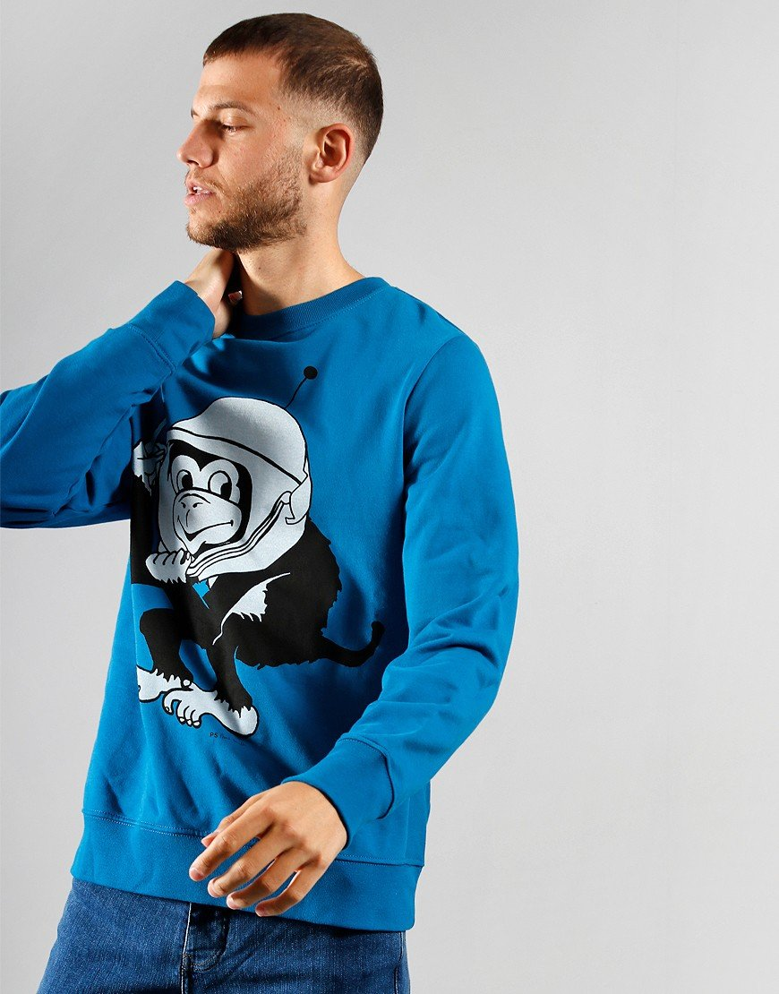 Paul Smith Space Monkey Sweatshirt Blue