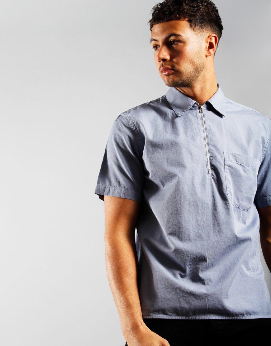 Paul Smith Casual Zip Shirt Blue