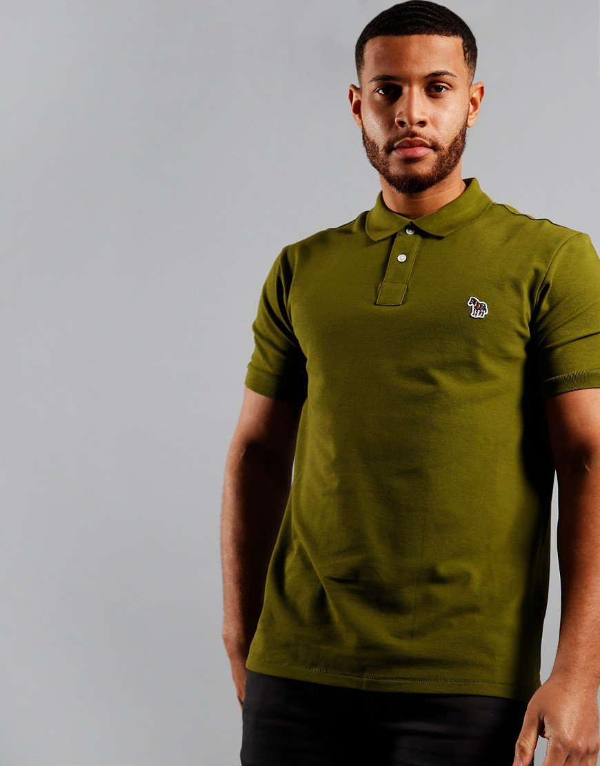 Paul Smith Regular Fit Polo Shirt Pea