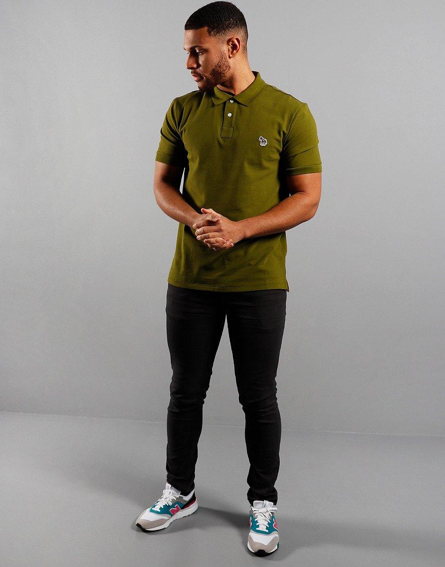 Paul Smith Regular Fit Polo Shirt Pea