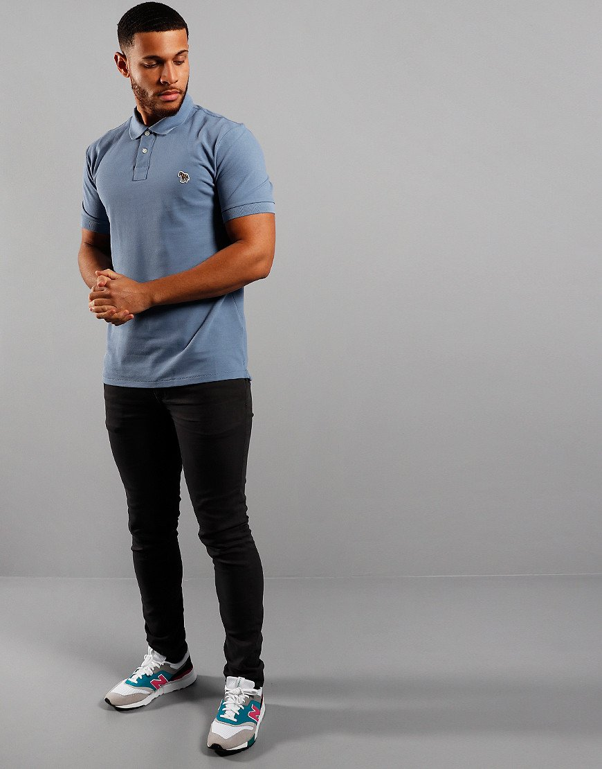 Paul Smith Regular Fit Polo Shirt Slate Blue