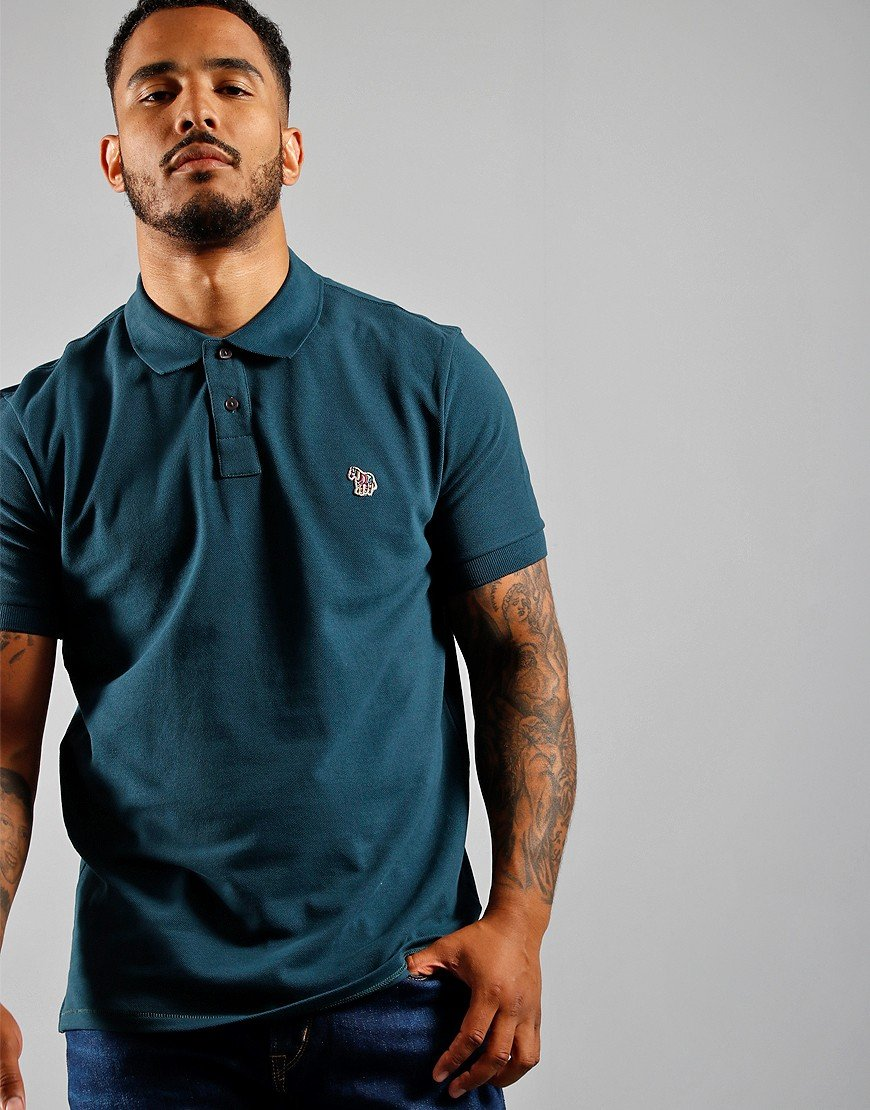 Paul Smith Regular Fit Polo Shirt Teal