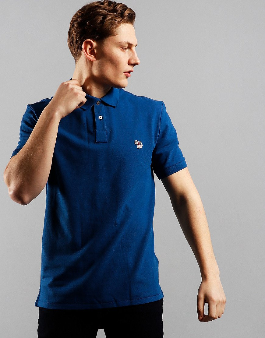 Paul Smith Regular Fit Polo Shirt 46A Indigo Blue