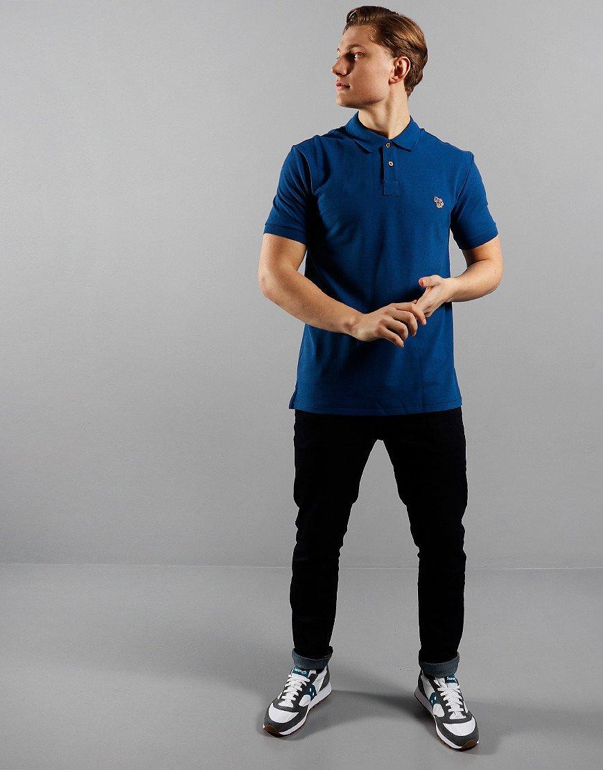 Paul Smith Regular Fit Polo Shirt 46A Indigo Blue