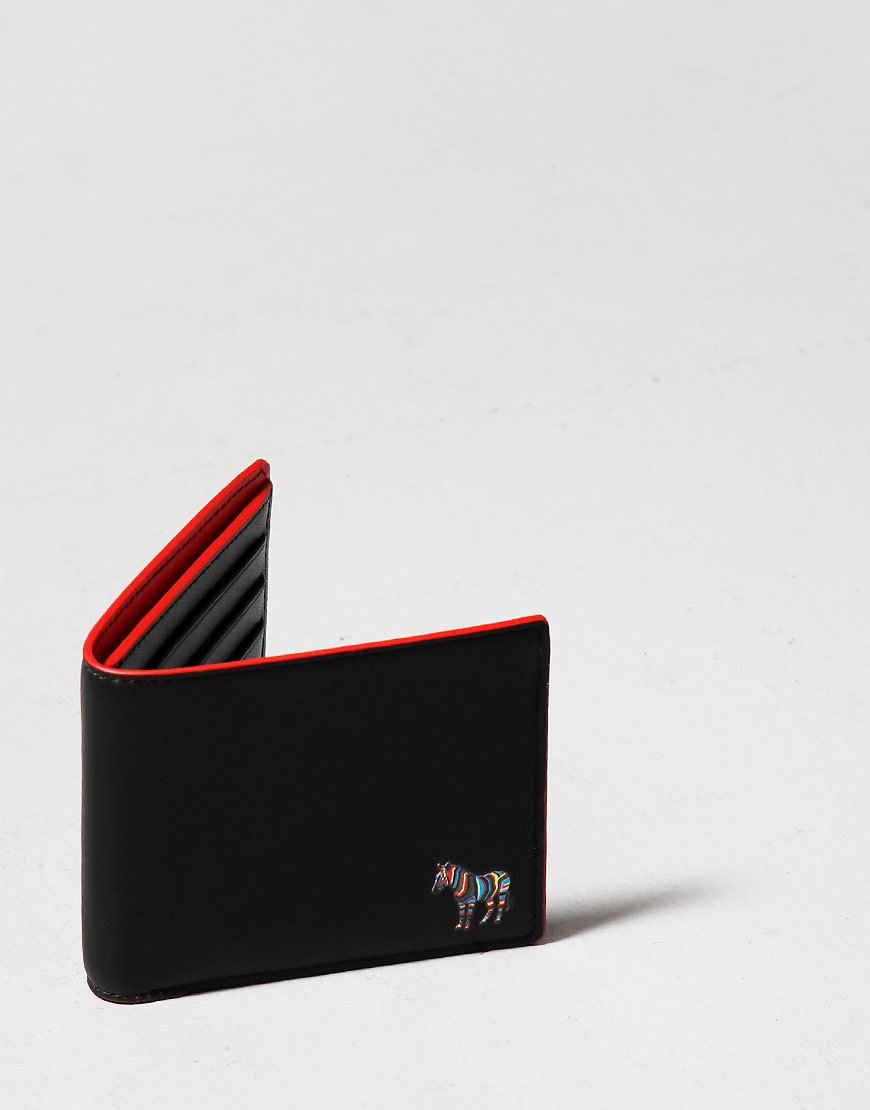 Paul Smith Bifold Zebra Wallet Red/Black Melange