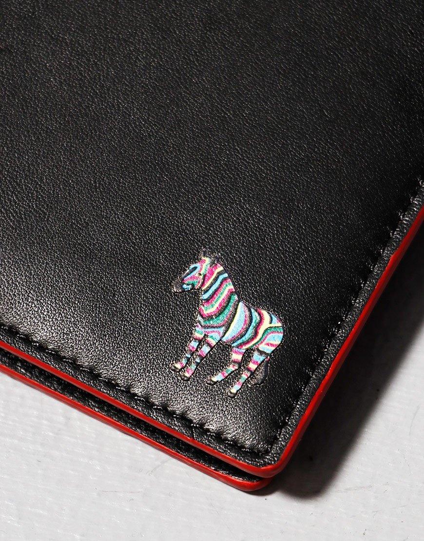 Paul Smith Bifold Zebra Wallet Red/Black Melange