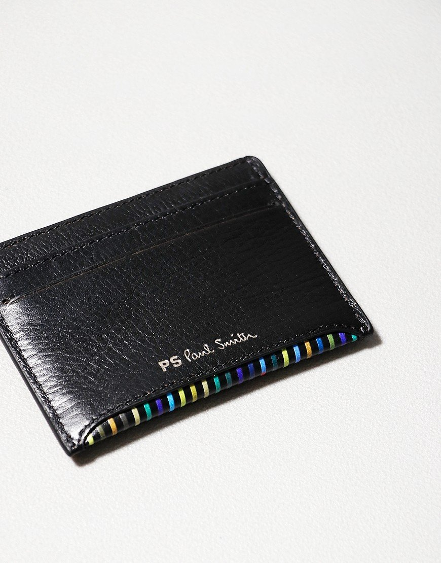 Paul Smith PS Stripe Wallet Card Black
