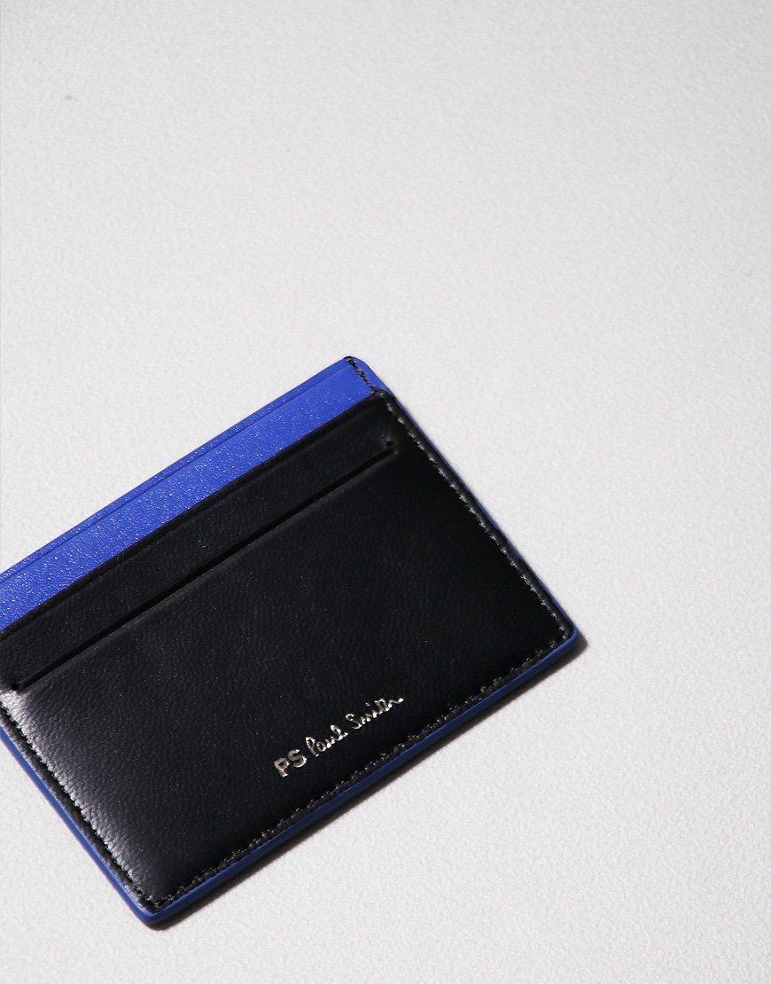Paul Smith Zebra Print Credit Card Holder Black