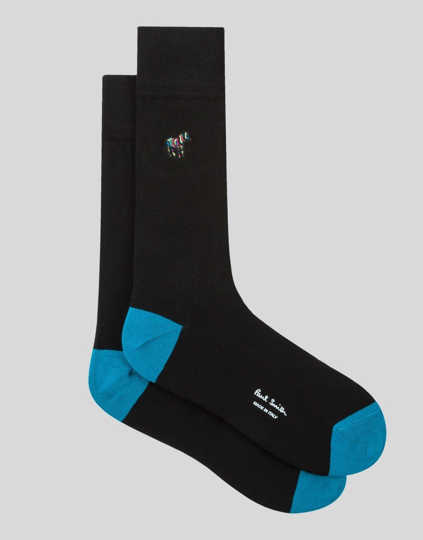 Paul Smith Embroidered Socks Black