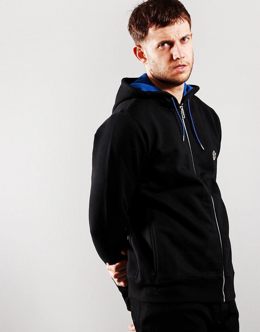 Paul Smith Zip Hoodie Black/Royal