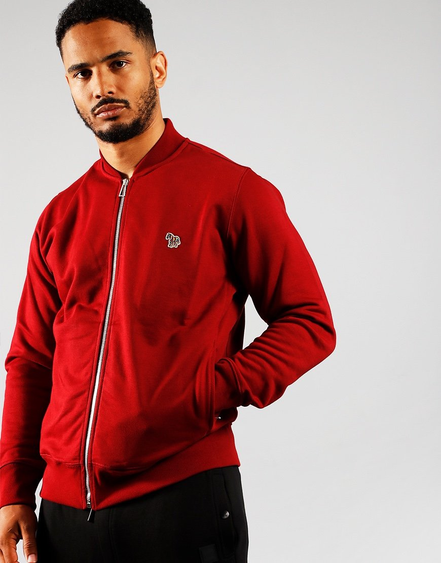 Paul Smith Bomber Zip Through Sweat Red