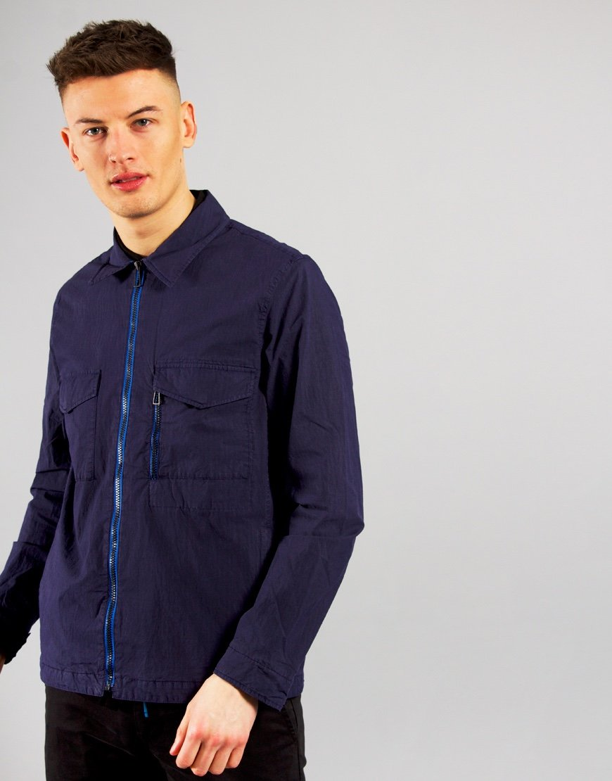 Paul Smith Zip Overshirt Inky