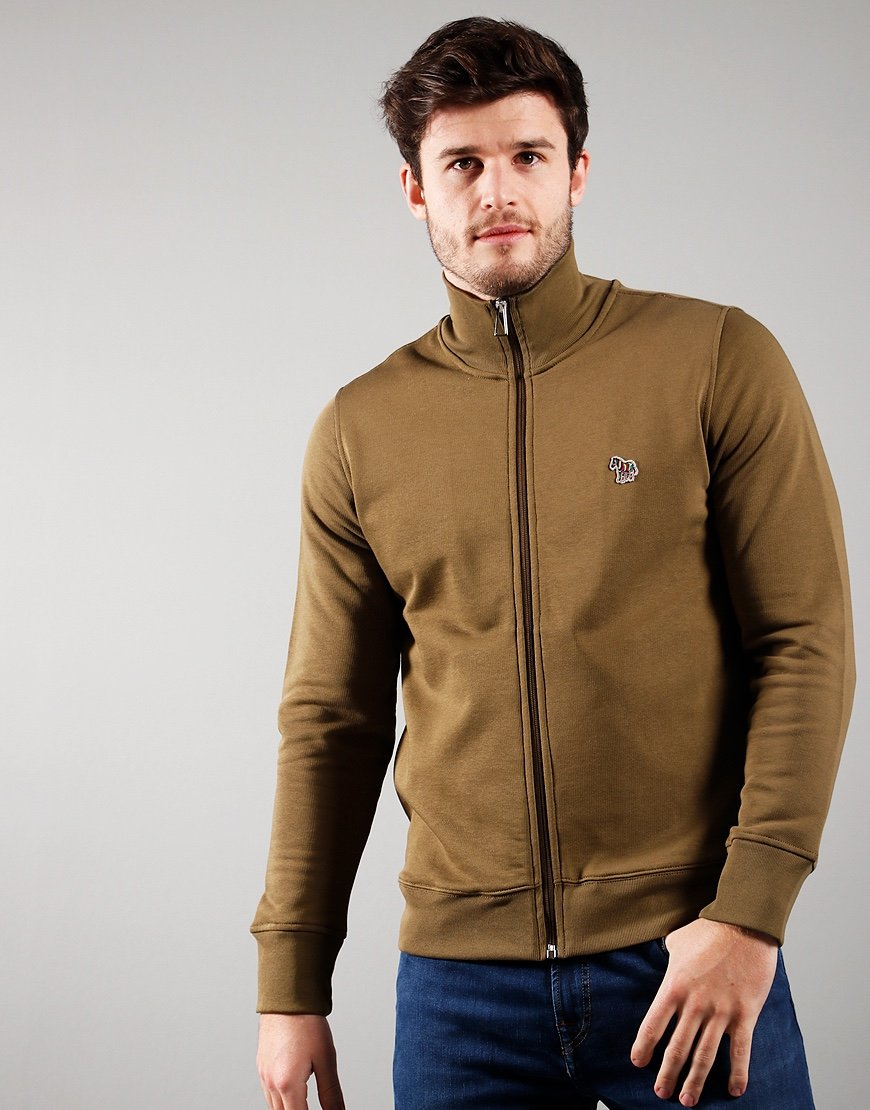 Paul Smith Zip Track Top Military Green