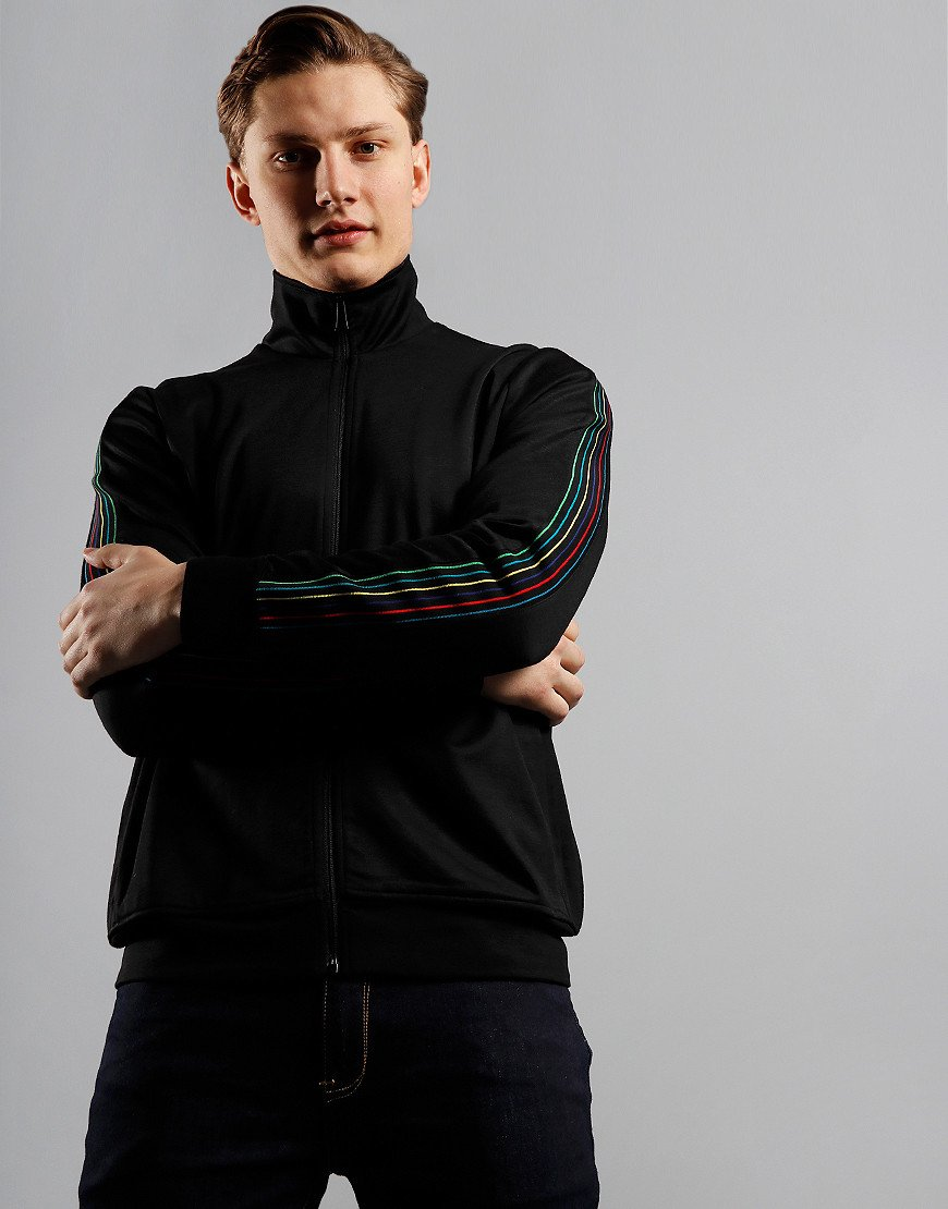 Paul Smith Zip Stripe Sleeve Track Top Black