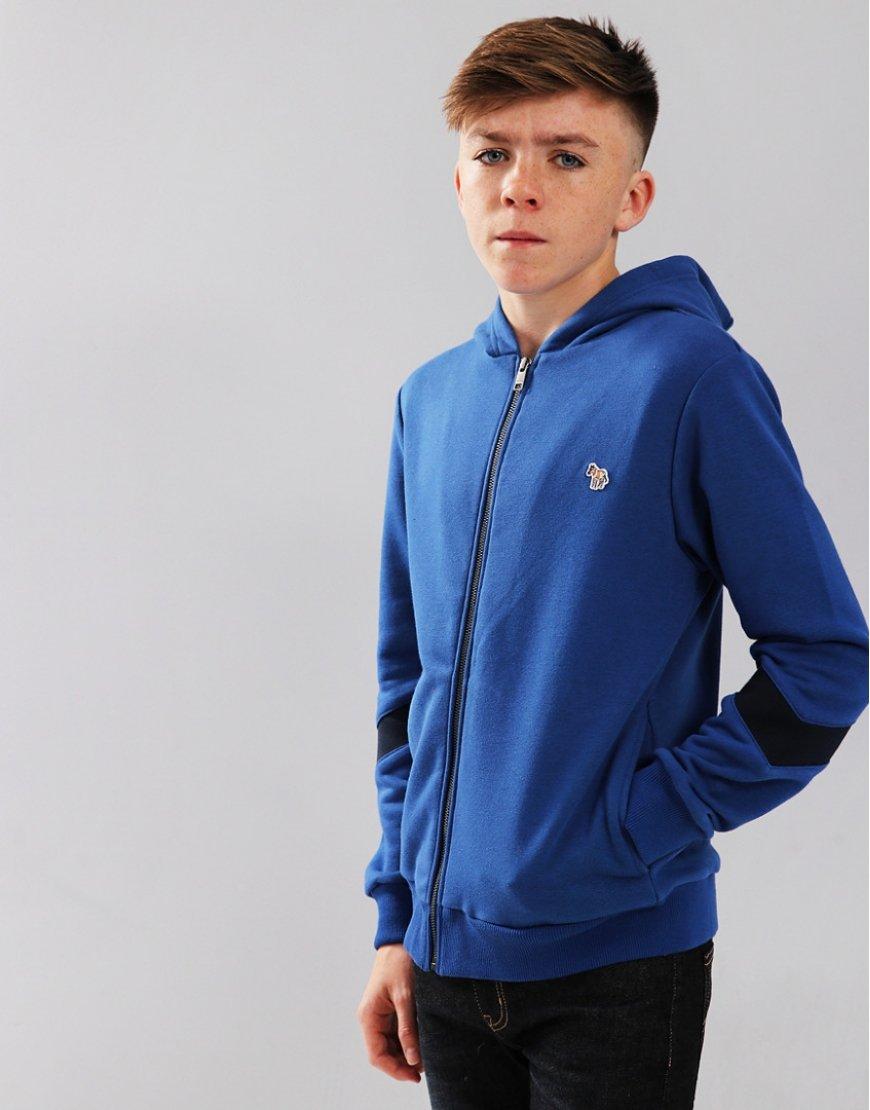 Paul Smith Junior Safir Zip Hoodie Medium Blue