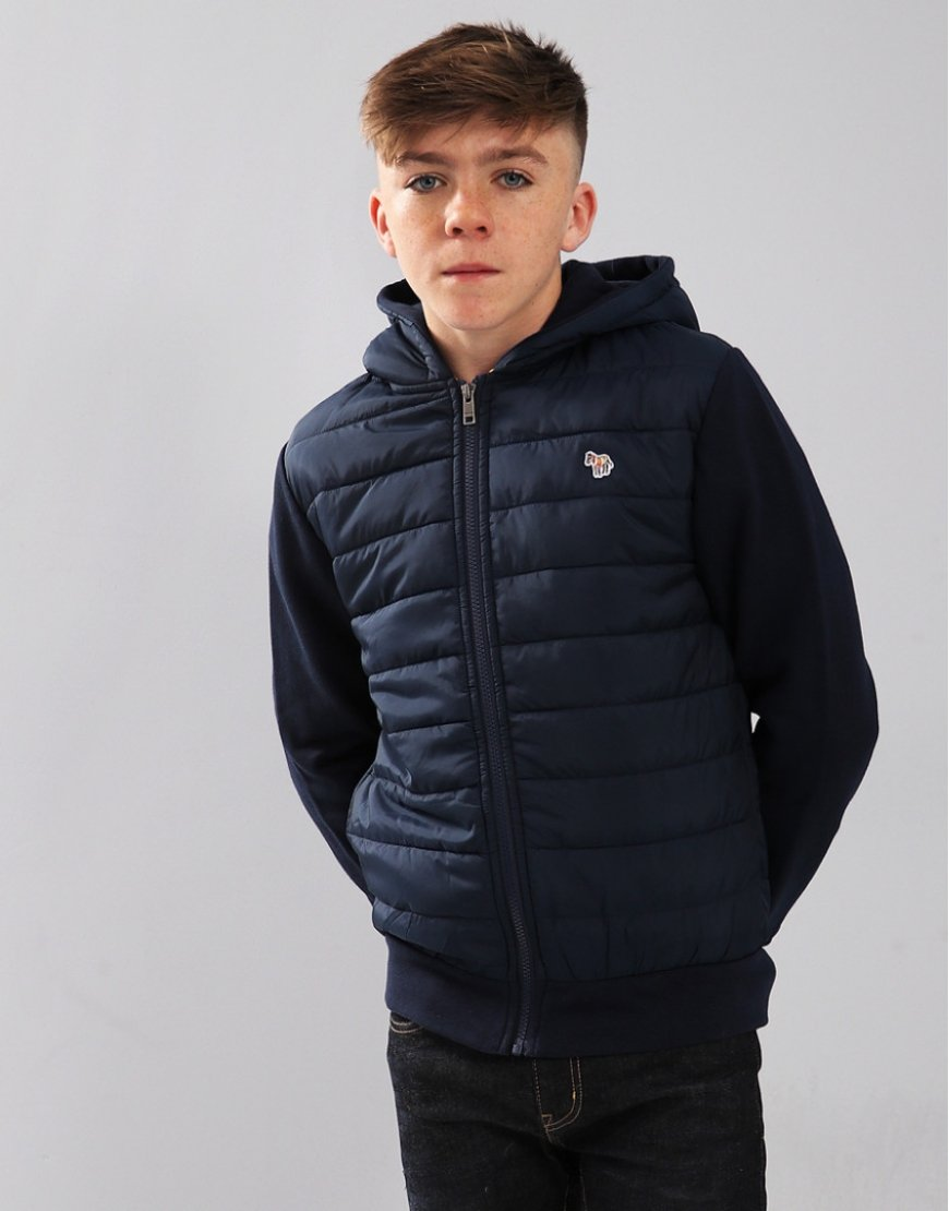 Paul Smith Junior Santiago Quilted Jacket Navy