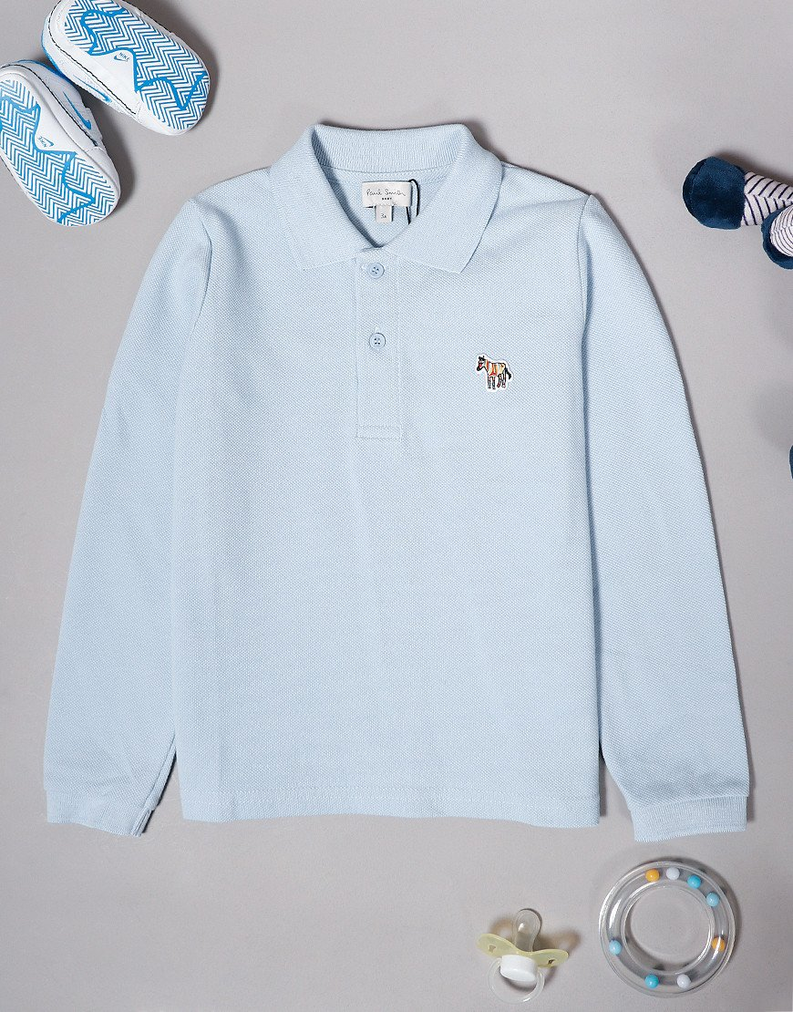 Paul Smith Baby Viateur Long Sleeve Polo Shirt Light Blue