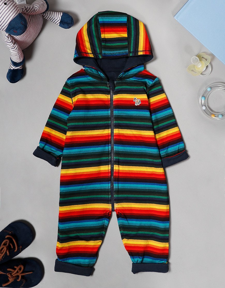 Paul Smith Baby Valbert Reversible Romper Suit Navy/Multi
