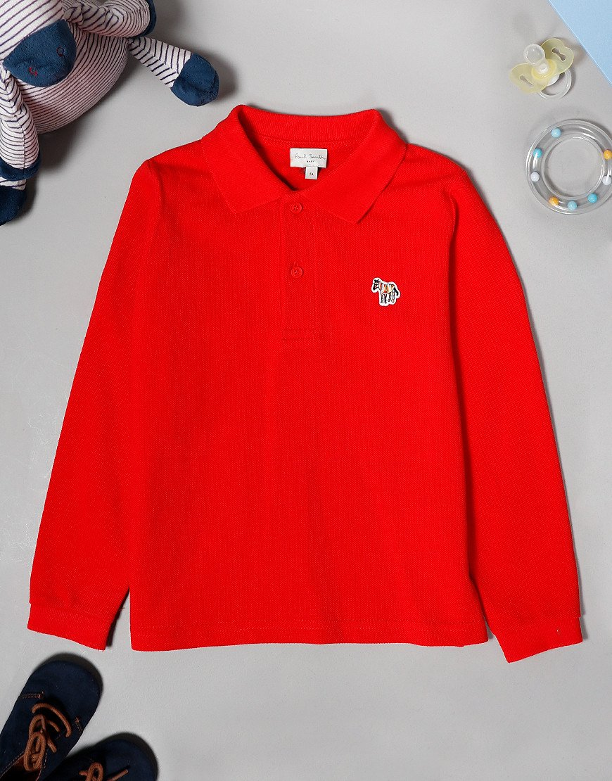 Paul Smith Baby Viateur Long Sleeve Polo Shirt Winter Red