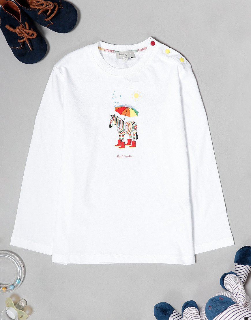Paul Smith Baby Victor Long Sleeve T-Shirt White
