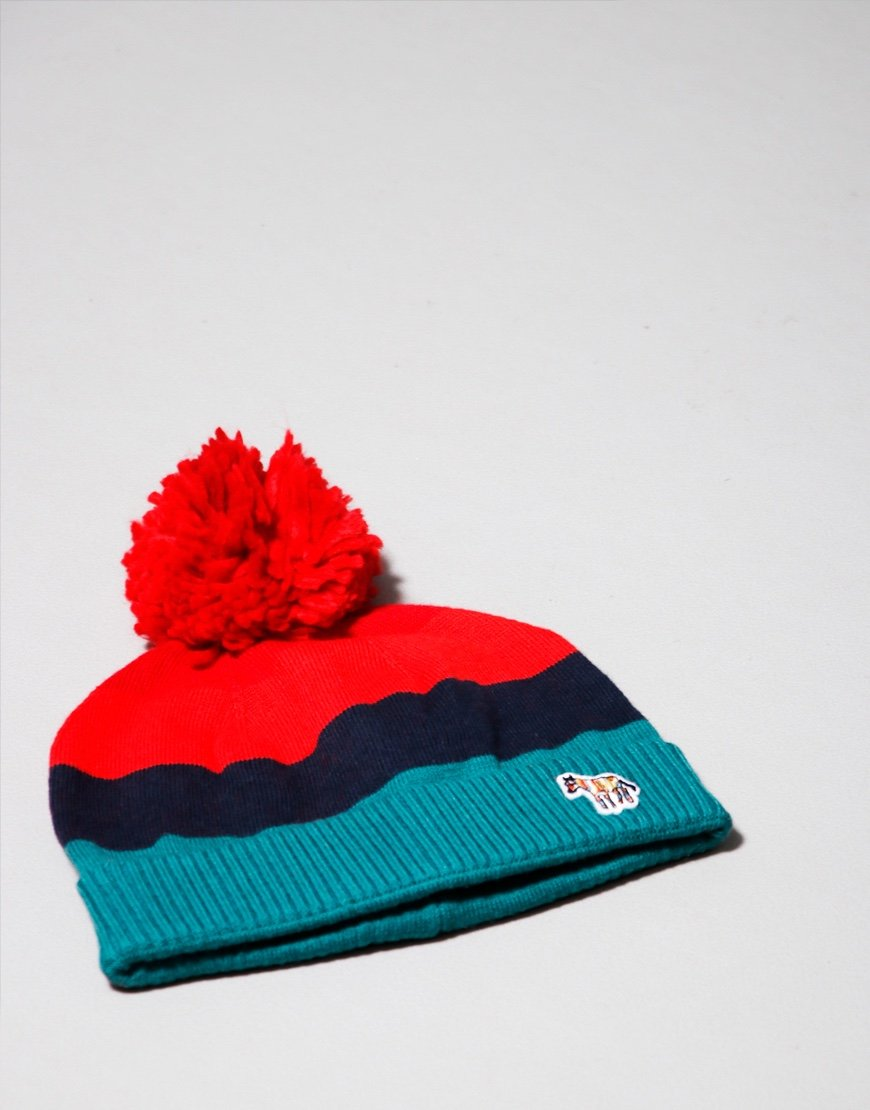 Paul Smith Junior Bavou Bobble Hat Storm Green