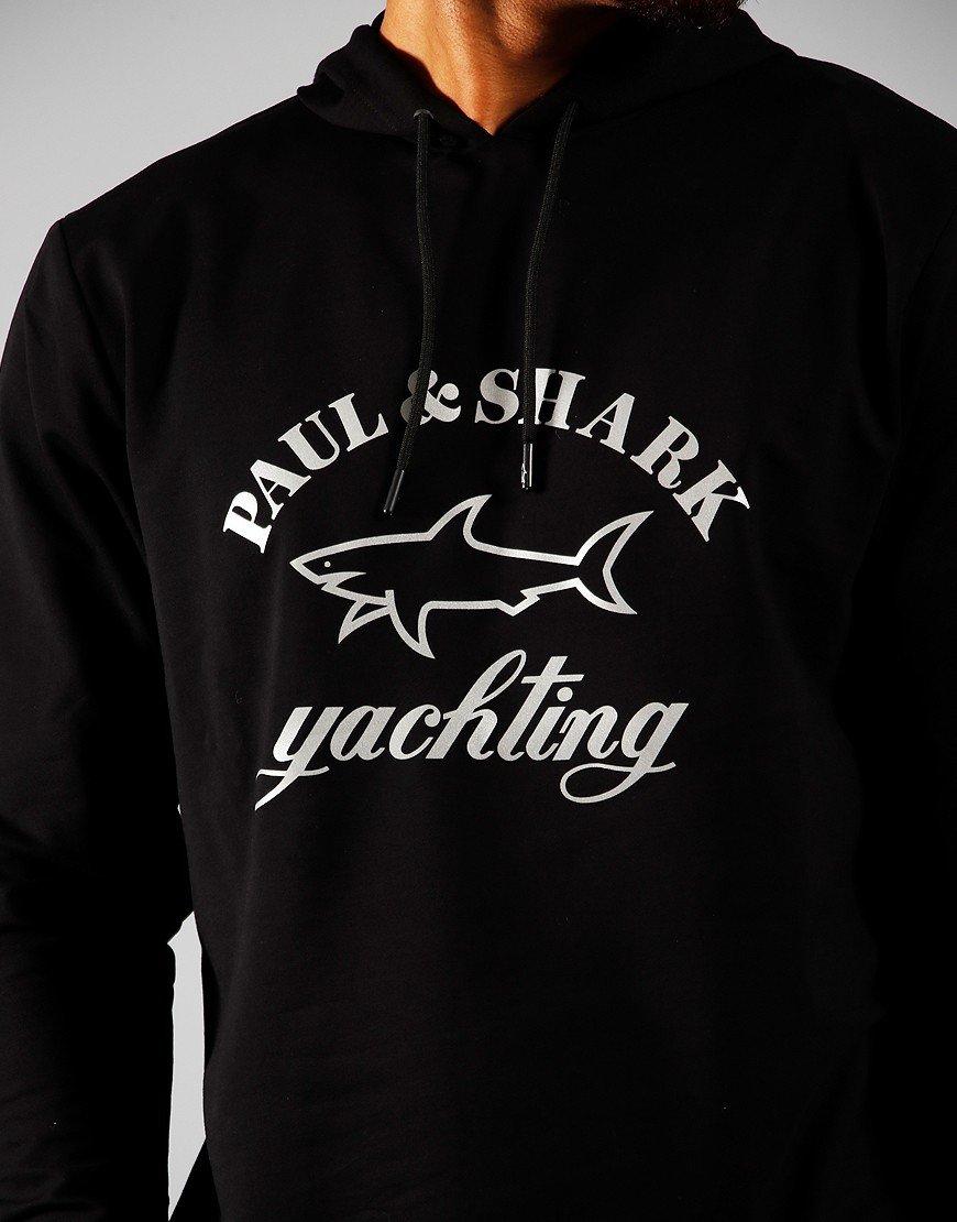 Paul & Shark Logo Hooded Sweat Black
