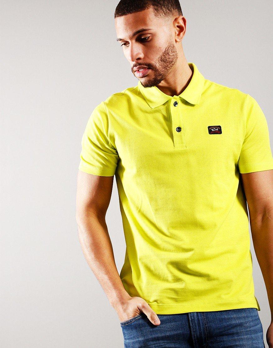 Paul & Shark Basic Short Sleeve Polo Shirt Lime