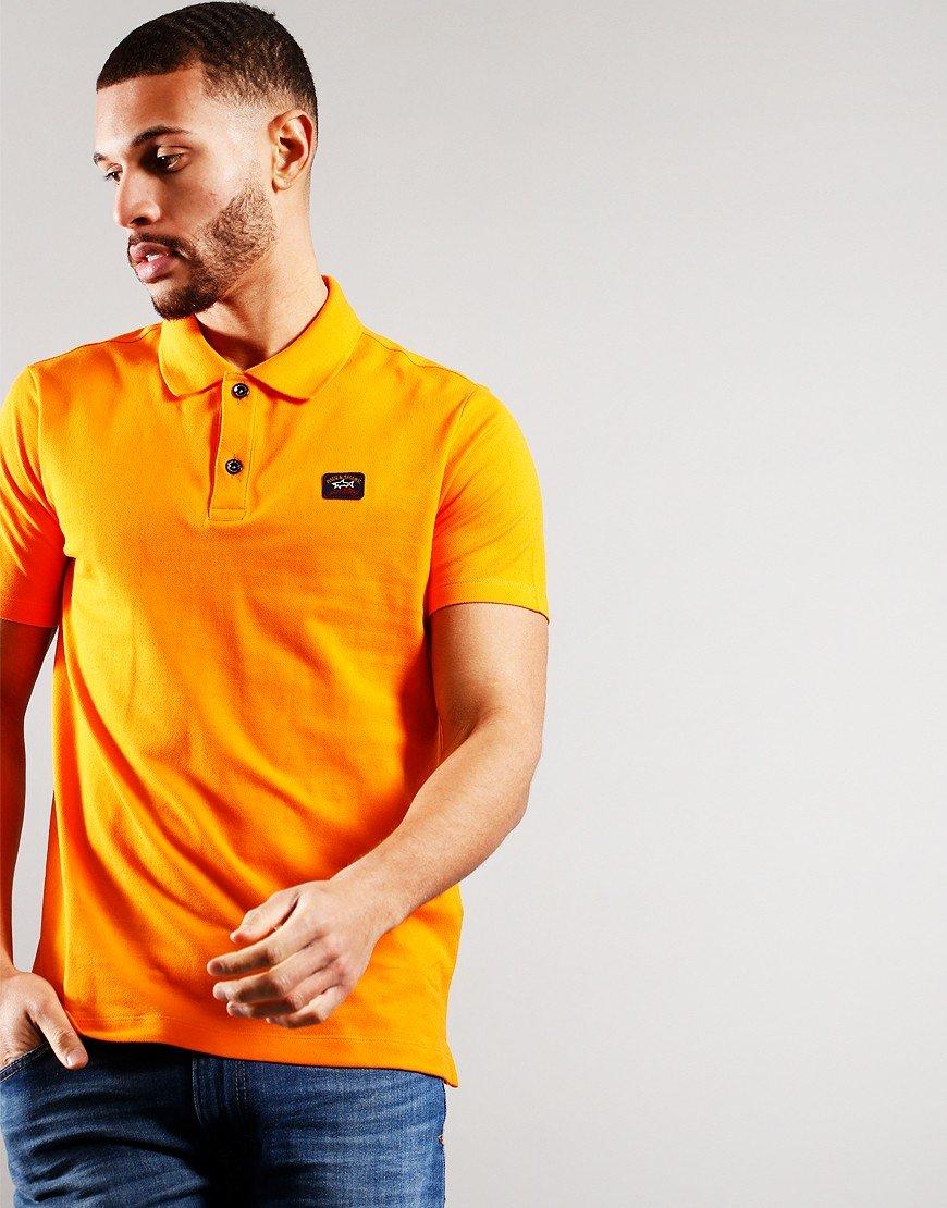 Paul & Shark Basic Short Sleeve Polo Shirt Orange