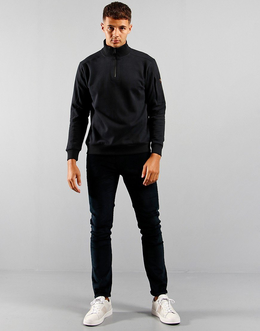 Paul & Shark Half Zip Sweat Black