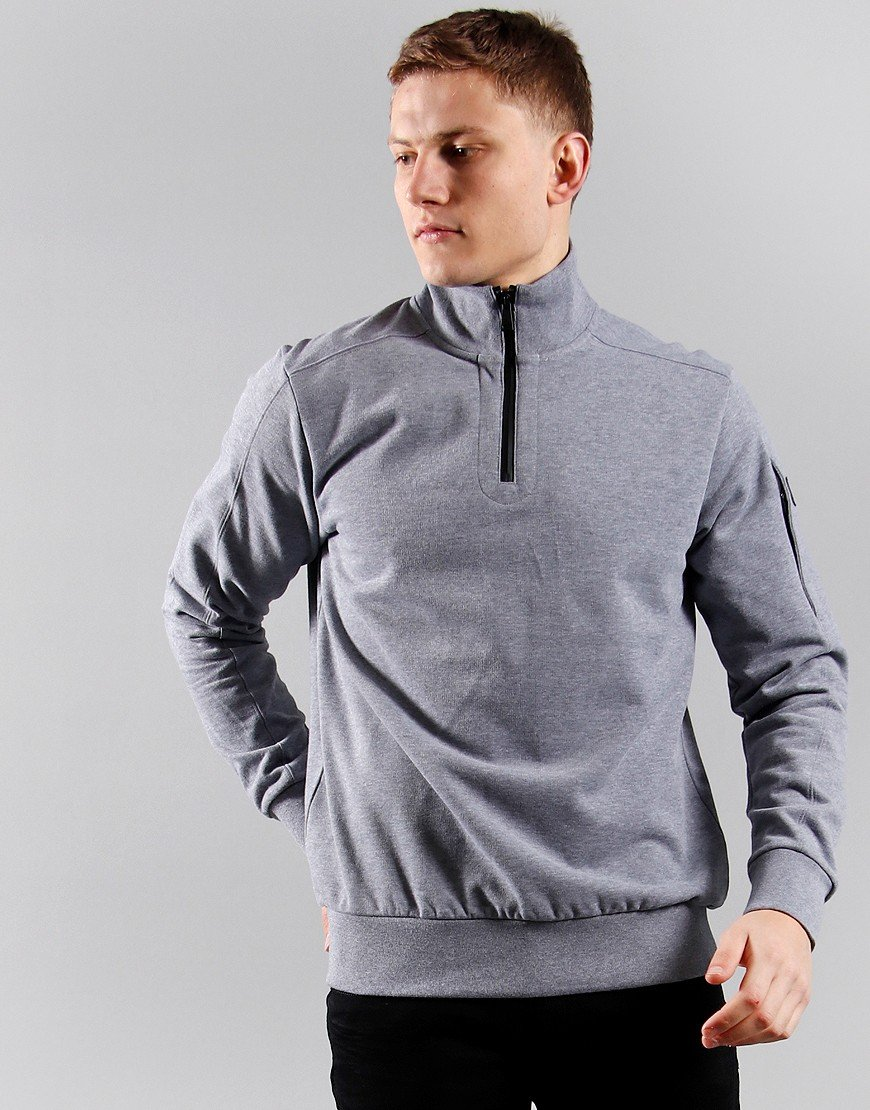 Paul & Shark Half Zip Sweat Grey