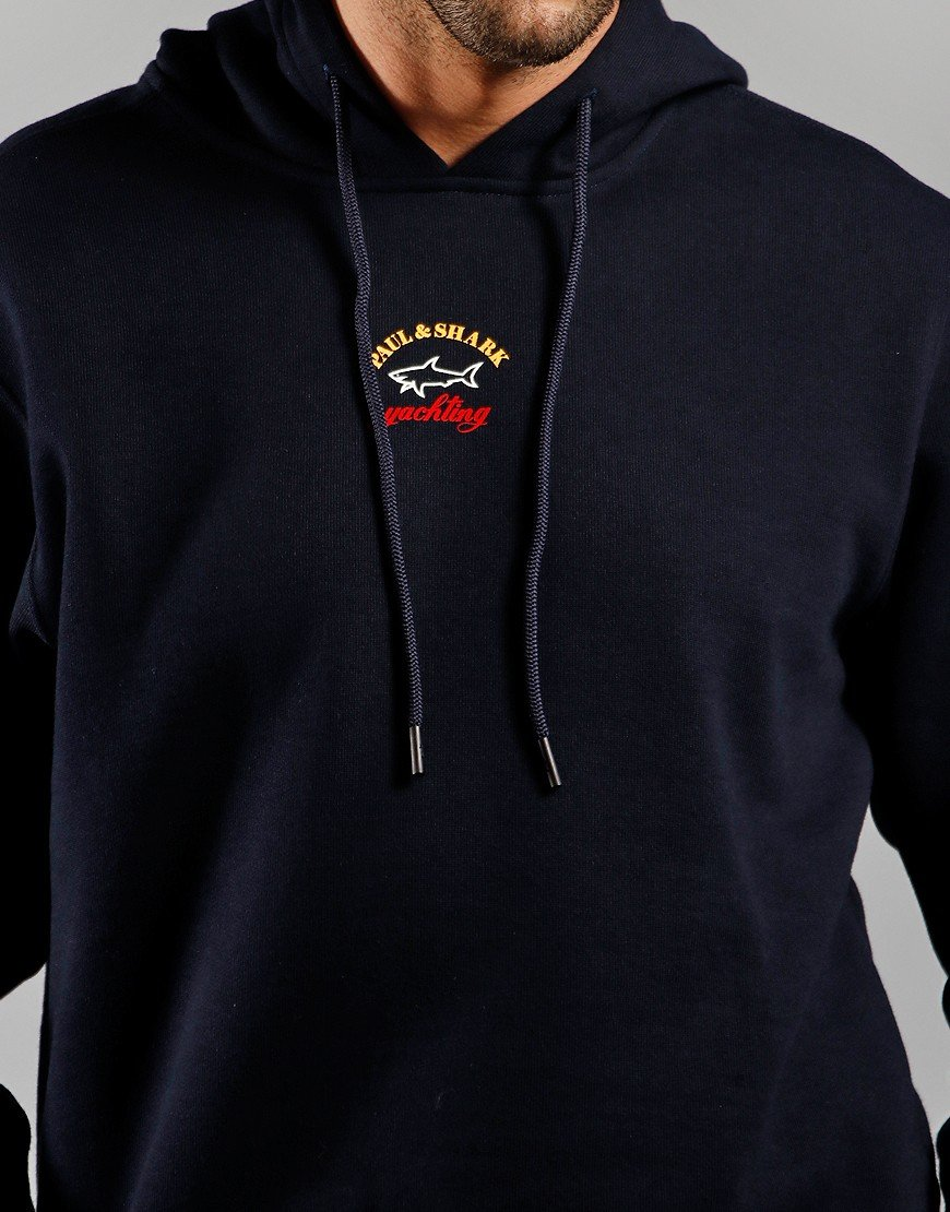 Paul & Shark Logo Overhead Hoodie Navy