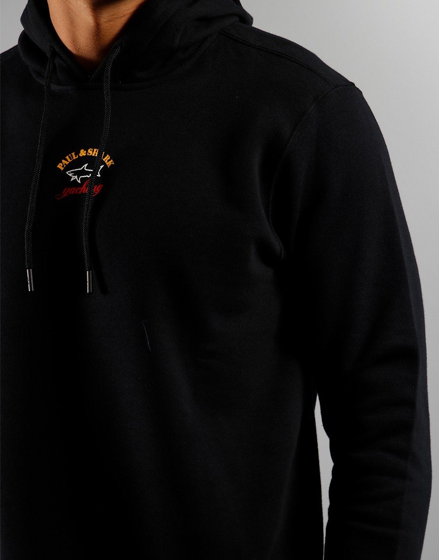 Paul & Shark Logo Overhead Hoodie Black