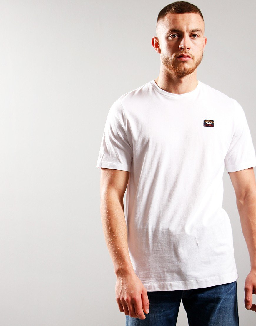 Paul & Shark Patch Logo T-Shirt White
