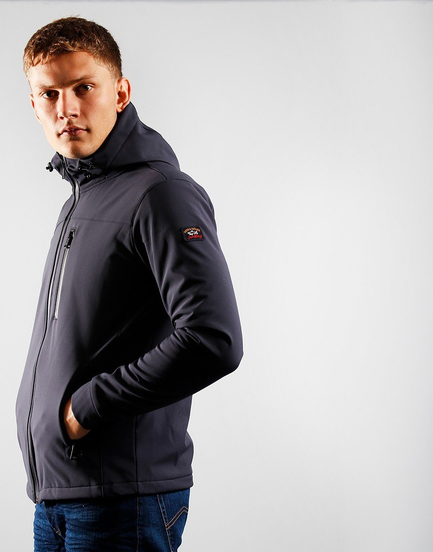 Paul & Shark Funnel Neck Softshell Jacket Blue