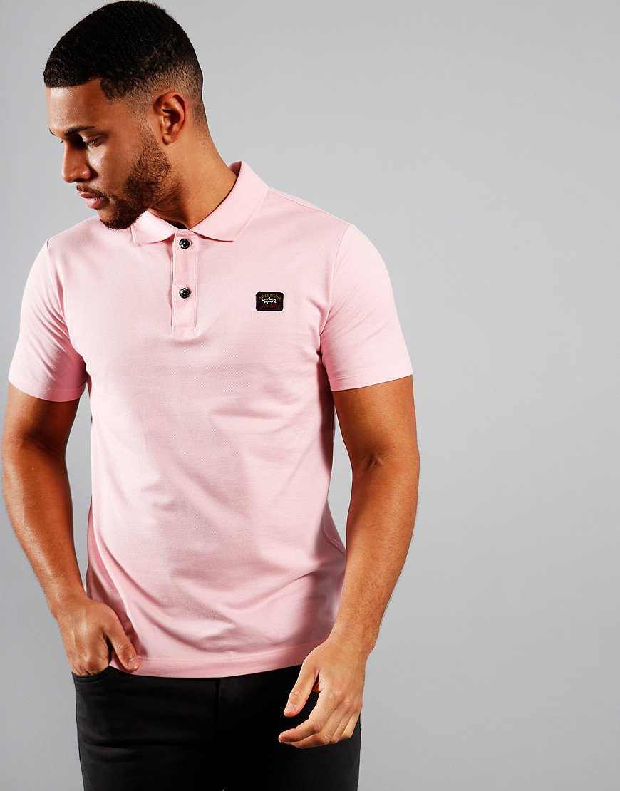 Paul & Shark Basic Polo Shirt Light Pink