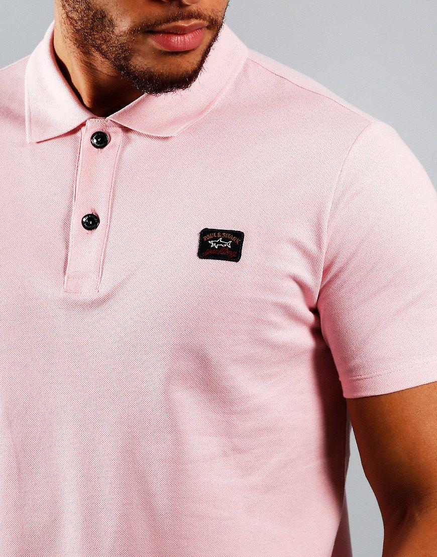 Paul & Shark Basic Polo Shirt Light Pink