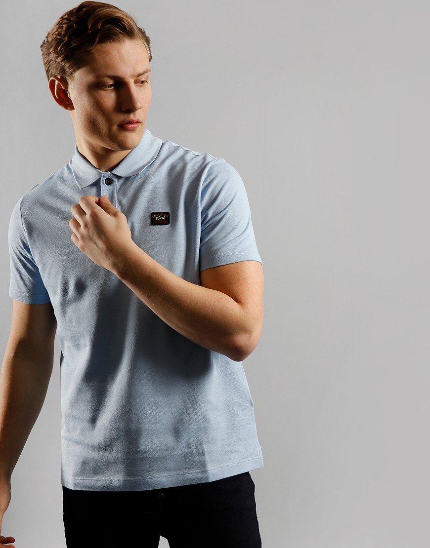 Paul & Shark Basic Polo Shirt Light Blue