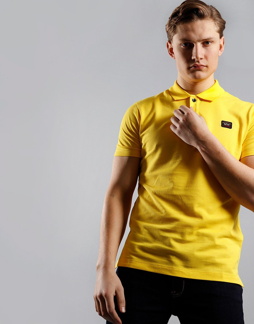 Paul & Shark Basic Polo Shirt Yellow
