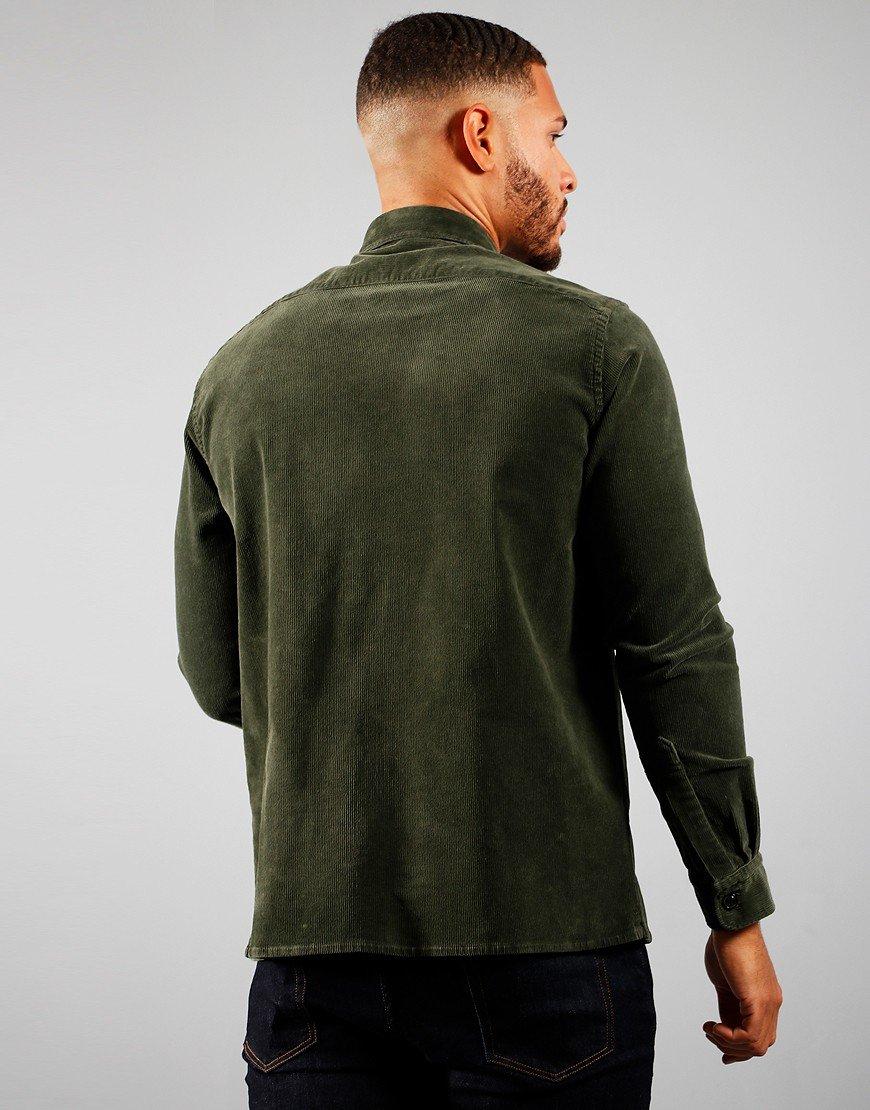Paul & Shark Corduroy Overshirt Military Green