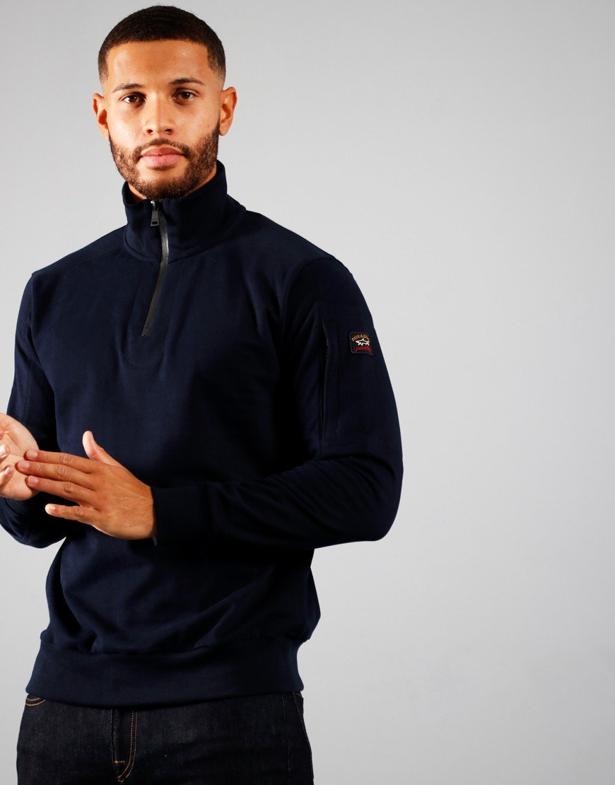 Paul & Shark Half Zip Sweat Navy