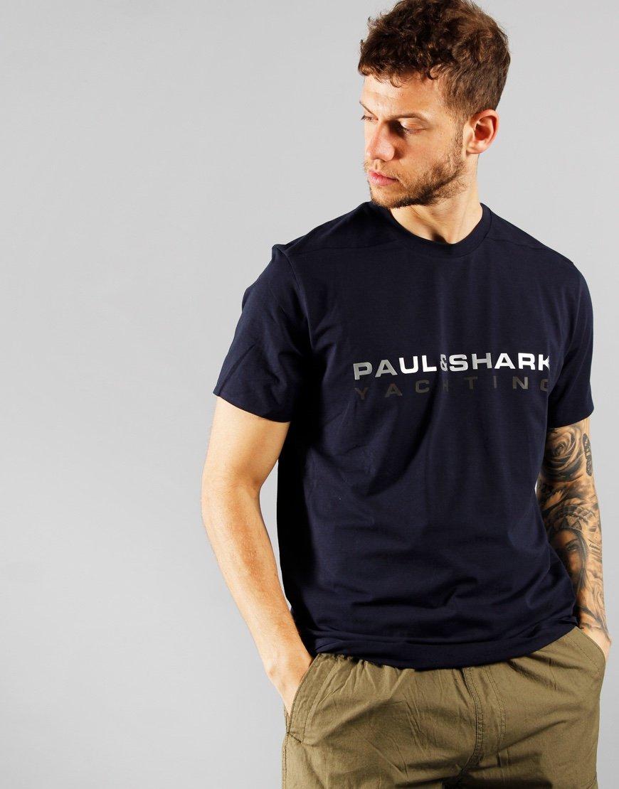 Paul & Shark Lettering T-shirt Blue