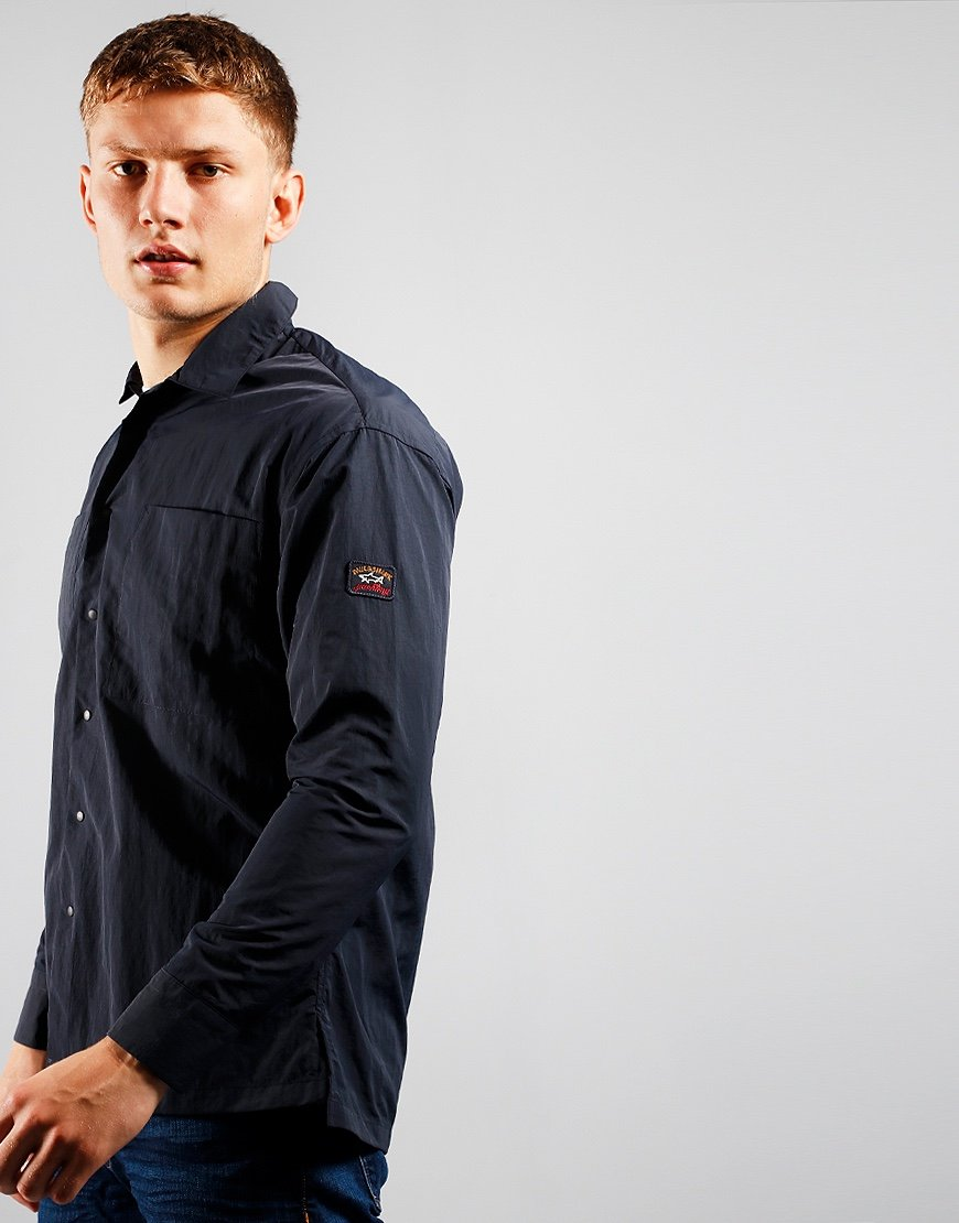 Paul & Shark Nylon Overshirt Blue