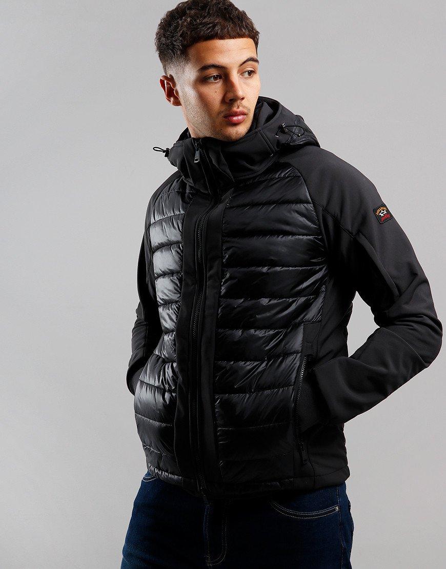 Paul & Shark Panelled Puffer Jacket Black
