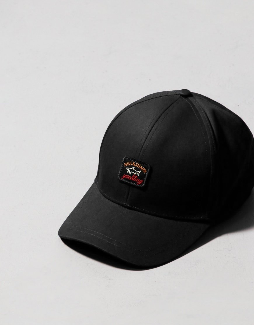 Paul & Shark Patch Cap Black