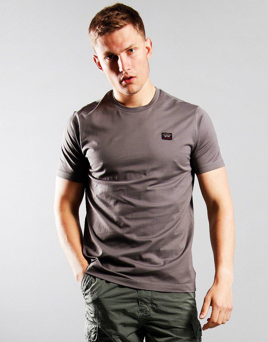 Paul & Shark Patch Logo T-Shirt Grey
