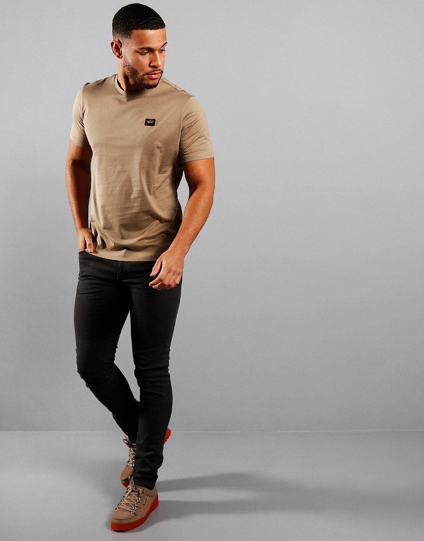 Paul & Shark Patch Logo T-Shirt Beige