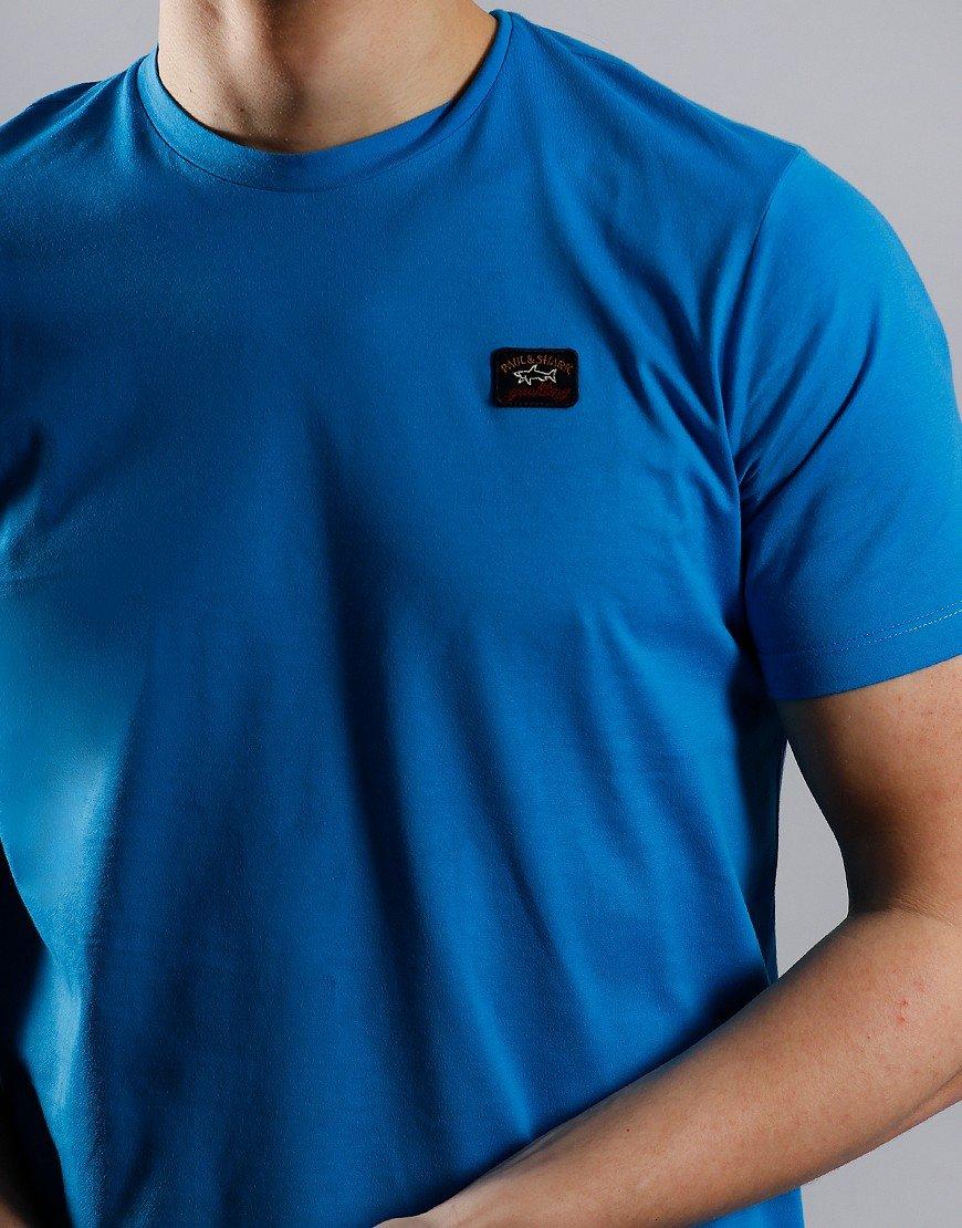 Paul & Shark Patch Logo T-Shirt Light Blue