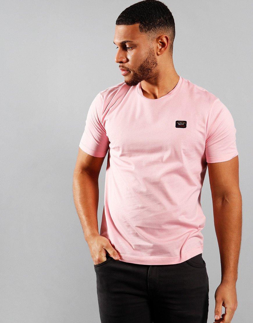 Paul & Shark Patch Logo T-Shirt Light Pink